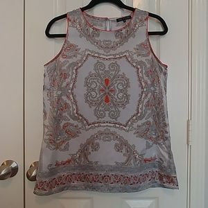 Sleeveless Silky Blouse with Beautiful Design